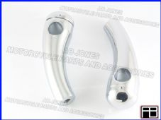 Pair chromed alloy round top 4 1/2 inch handlebar risers for 1in 25mm bars